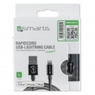 4smarts Apple Lightning datu kabelis (MFi cerified*) 1m grey, blister