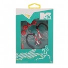 MTV Sports Earphones(sporta austiņas) MTV1777 red/black